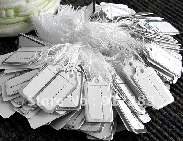 De Bijoux Wholesale 2500pcs 26*13mm White Silver Color Label Tie String Price Display Tags,Jewelry Display