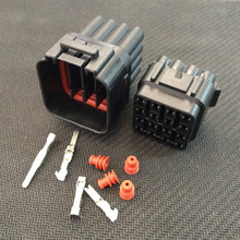 10 sets Kit 16 Pin Way Waterproof Electrical Wire Connector Plug auto connectors free shipping