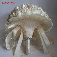 Поступление Цвета Слоновой Кости Цвет Великолепная жемчужина невесты Букеты свадебные ручной работы Свадебные цветы Свадебные букеты эле
