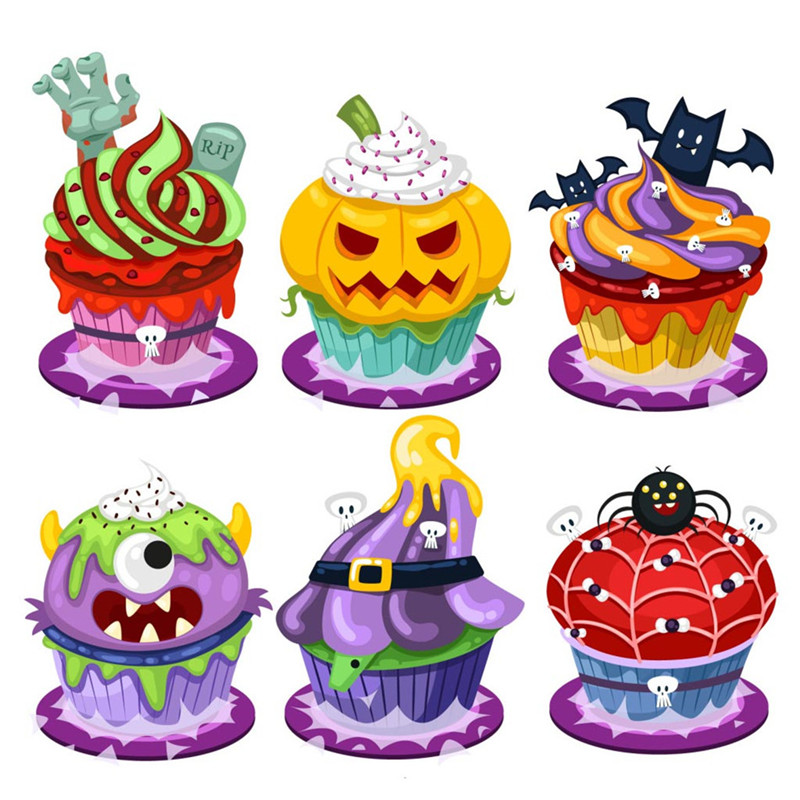 Eastshape Scrapbook Halloween Cutting Dies Spider Pumpkin Transparent Silicone Rubber Clear Stamps Cartoon DIY Festival Craft