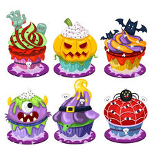 Eastshape Scrapbook Halloween Cutting Dies Spider Pumpkin Transparent Silicone Rubber Clear Stamps Cartoon DIY Festival Craft(China)