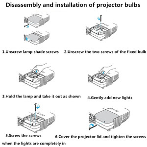 Image 2 - NP21LP NSHA330W Projector Bulb/lamp  For NP PA500U NP PA500X NP PA5520W NP PA500XG