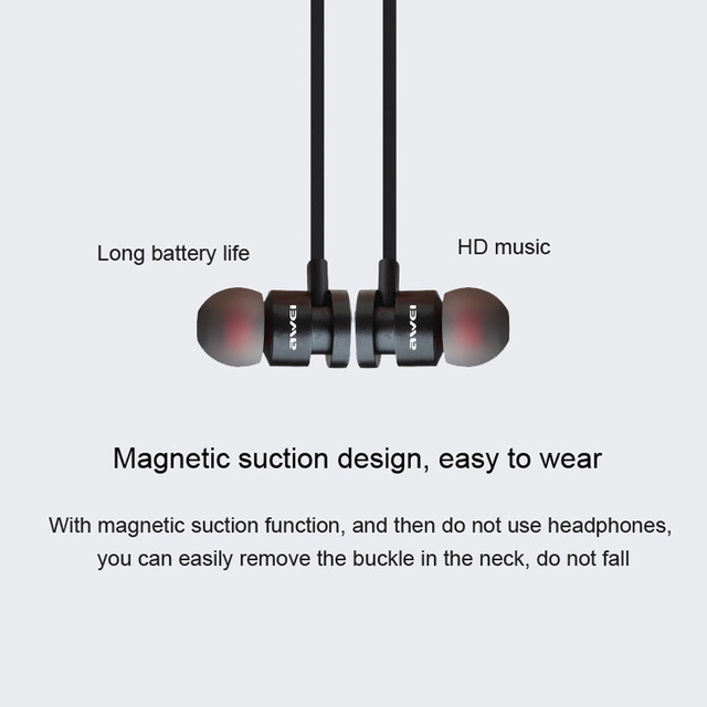 2017 Newest AWEI T11 Wireless Headphone Bluetooth Earphone Fone de ouvido For Phone Neckband Ecouteur Auriculares Bluetooth V4.2