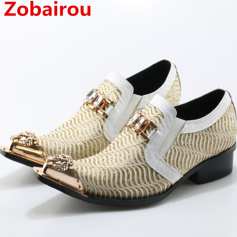 Zobairou zapatos hombre cystal hidden heel shoes for men slip on black spiked loafers genuine leather sapato social shoes men zobairou sapato social oxford shoes for men genuine leather gold dress shoes men flats spiked loafers wedding shoes