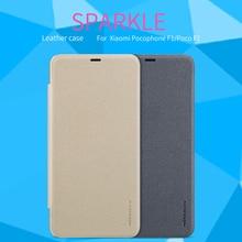 For Xiaomi Pocophone F1 case Nillkin Sparkle Flip cover protective mobile