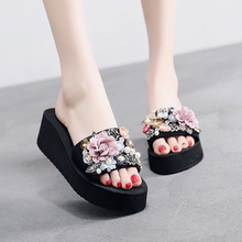 Flower Women Sandals Platform Wedges Slippers Spring/Summer Female Shoes Casual Lady Woman Footwear