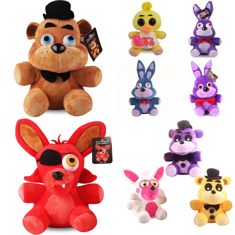 FNAF Toys 18cm Five Nights At Freddy's 4 Freddy Fazbear Bear Bonnie Chica Foxy Plush Stuffed Toys Doll Gifts for Children Kids цена