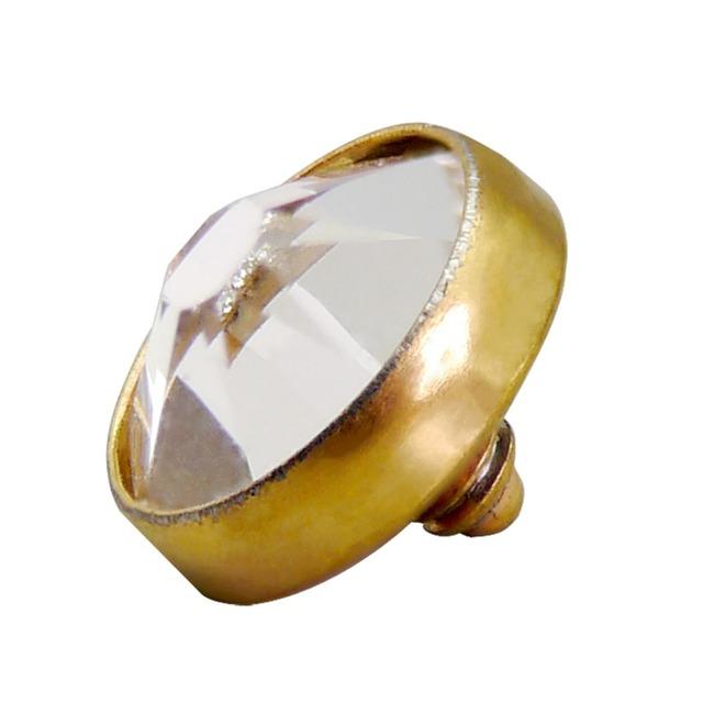 G23 Titanium Simple Gold Plated Dermal Anchor Tops