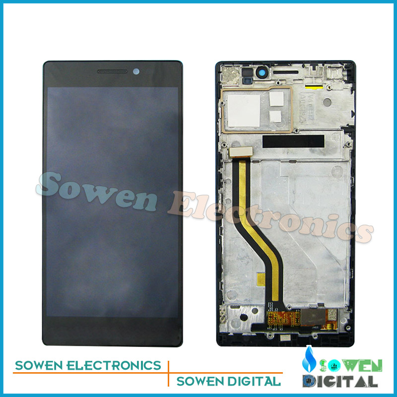 for Lenovo Vibe X2 X2-TO X2-CU LCD display with Touch Screen with Bezel frame Full Sets assembly black , new original quality test ok lcd display touch screen digitizer assembly for lenovo vibe x2 x2 to x2 cu black free shipping track