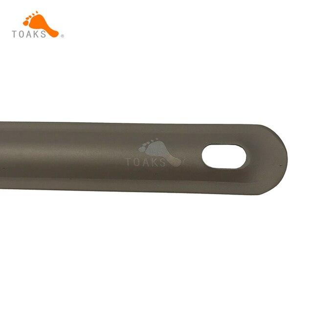 TOAKS titane cuillère ultra-léger titane sablé cuillère longue poignée Camping cuillère 215mm de longueur