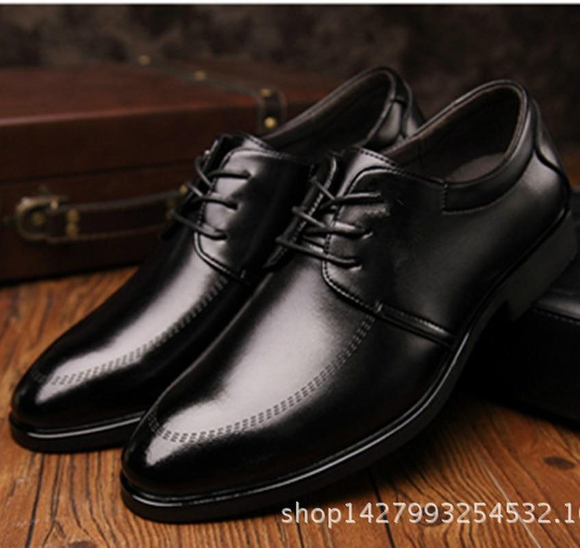 En Robe 2018 Rond Bout Cuir Automne Vintage Dentelle Mâle D'affaires Printemps up Respirant Hommes Mazefeng Chaussures Noir zgPYdqdw
