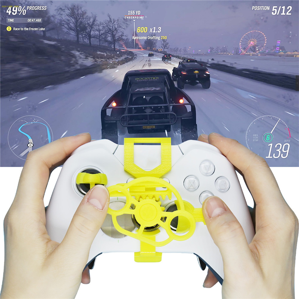 Mini Steering Wheel for Xbox One/One s Game Controller Car Racing Replacement Steering-Wheel Controller Add-on Accessories image