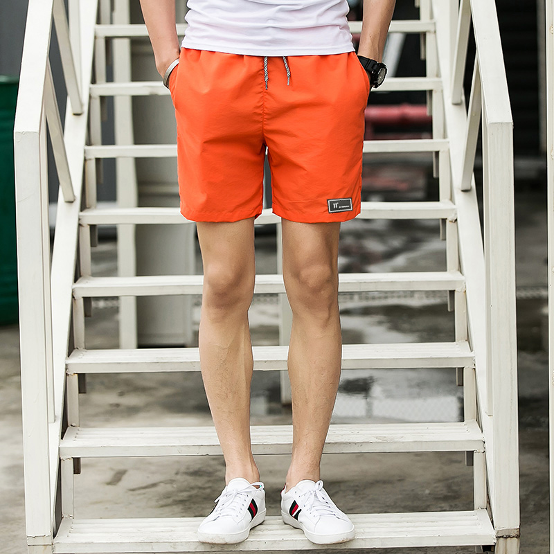 Summer Quick Drying Beach Shorts Male Casual Pure Color Shorts Mens Jogge Shorts Men Plus Size M-5XL Free Shipping Short Homme