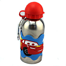 Kinder Wasserflasche 3D PVC Geprägte Auto 304 Edelstahl Mit Verschluss Schule kinder Reisewasserkocher Drink Werkzeuge
