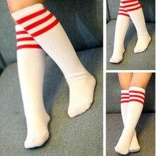 Полосатые Простые Модные хлопковые носки в полоску для девочек-подростков, Детские милые Мультяшные носки для От 1 до 12 лет девочек