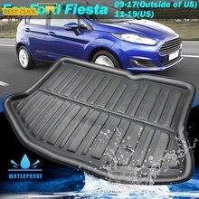 Подходит для Ford Fiesta 2009, 2010, 2011, 2012, 2013, 2014, 2015, 2016, 2017, хэчбек, подкладка для ботинок, задний коврик для багажника, грузовой поднос, напольный ковер