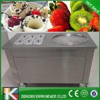 Ev Aletleri'ten Dondurma makinesi'de R410A Çok fonksiyonlu Dondurma Makinesi/kızarmış dondurma rulo makinesi ile 4 adet kürek