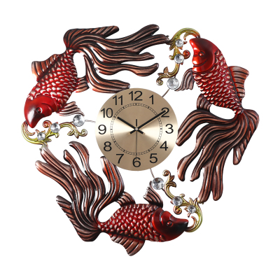 Abstract Creative Clocks Living Room Modern Chinese Style Mute Clock Decorative Hanging Table Clock Home Quartz Muur Klok 50w290