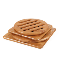Bamboo Trivets For Kitchen Hot Pads Teapot Trivet Pack Of 4 Square And Round