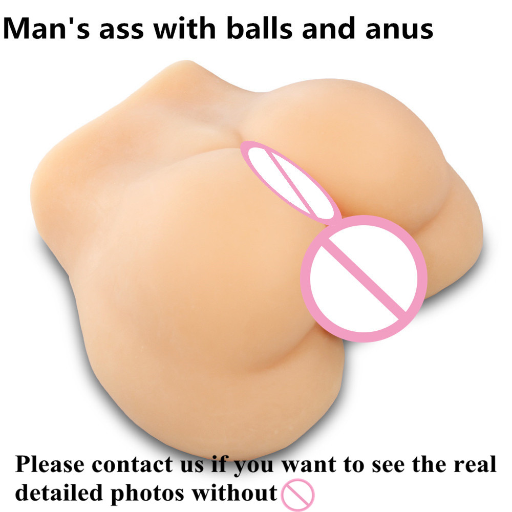 3 kg 1:1 real size Man' ass with anal anus and ball realistic sex doll for woman and gay sex products 9 5 kg 3d 1 1 real size man s body full silicone sex doll with penis and anus anal hole sex doll for gay or woman