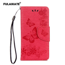 FULAIKATE Flip Case for Wiko Sunny Max Embossed Butterfly Back Cover Leather Holster SUNNY MAX Mt Stand Cases