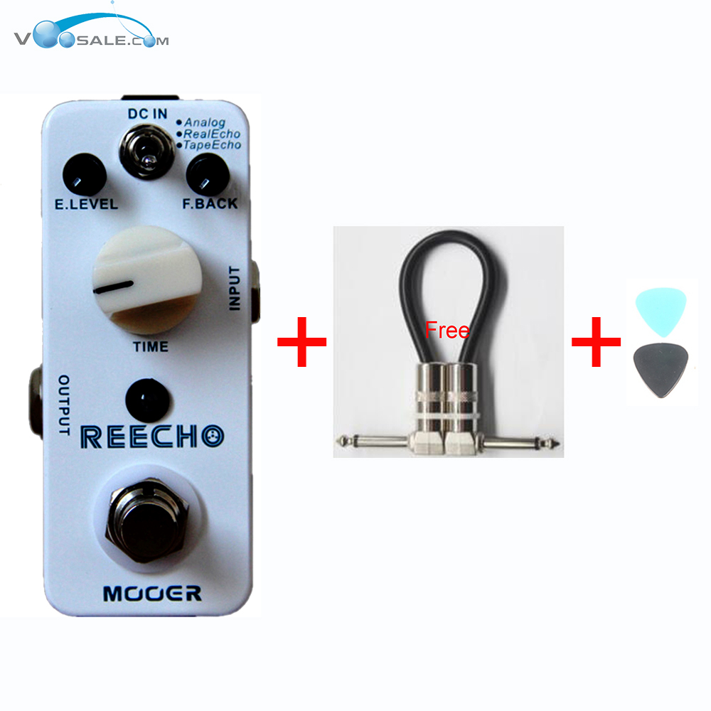 MOOER Reecho Digital Delay Guitar Effect Compact Pedal Analog Real Echo Tape Echo Effect Guitar Accessories + Free Cable free shipping new guitar effect pedal mooer ana echo analog delay pedal pedal true bypass