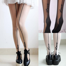 ff66a6288d2 Women Letter Printed Stockings Fashion Fake Tattoo Line Pantyhose Crotch  Tights Collant Femme Sexy Tight Hosiery
