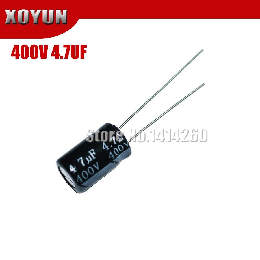 20pcs/lot Higt Quality 400V4.7UF 8*12mm 4.7UF 400V 8*12 Electrolytic Capacitor