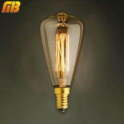 [MingBen] 빈티지 에디슨 전구 E14 220 볼트 ST48 백열 전구 25 와트 40 와트 필라멘트 레트로 에디슨 빛 펜던트 램프 장식