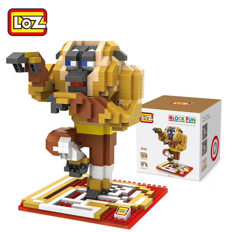 LOZ Movie Kung fu Panda Monkey Model Figure Diamond Building Blocks Nano Bricks Toys Children Gifts DIY Cartton Anime Kids Toys fcl 300a wooden glass anti fire bi directional door 500 000 times reliable power on lock electric bolt lock