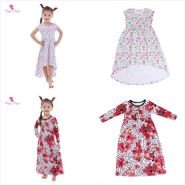 Kaiya Angel Flower Dresses 2018 Summer Style Kids Fl Children Clothing Princess Party Dress