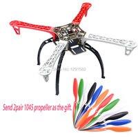 F450 Quadcopter Frame Kit W Black Tall Landing Gear Skid For DJI F450 F550 SK480 FPV