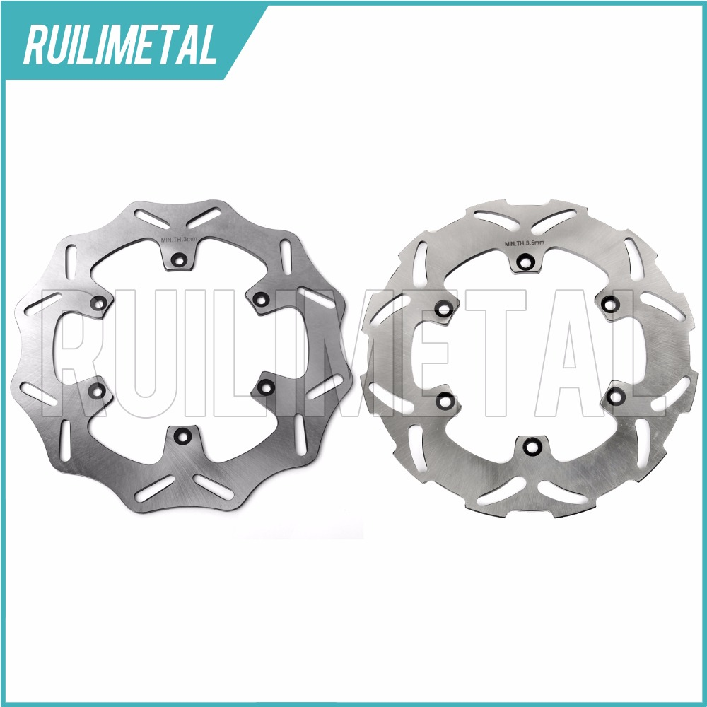 Full Set Front Rear Brake Discs Rotors for KTM 505 SX F XC 520 EXC MXC 525 G W 530 R sixdays 540 SXC SXS 01-06 l r aluminum radiator for ktm 400 450 525 540 sx exc mxc 2003 2007 2004 2005 2006