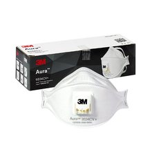 3pcs 3M FFP3 9334CV Dust Mask Aura Respirator Protective Mask Anti-PM2.5 Filter Oily Non-oily Particulates Haze Weather(China)