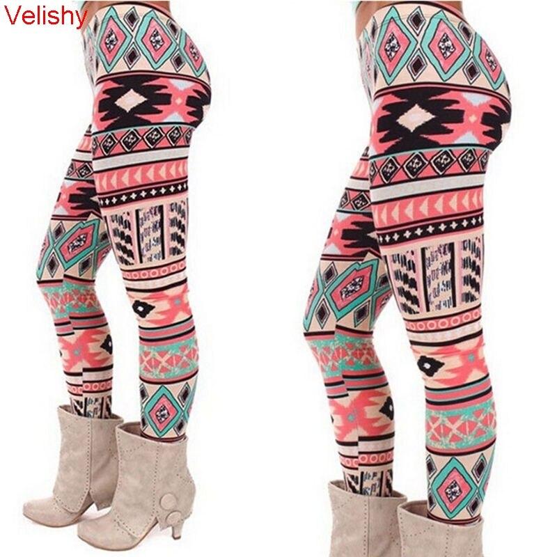 Women Pants Sexy High Elastic Printed Leggings Christmas Snowflake Deer Pattern Slim Leggings