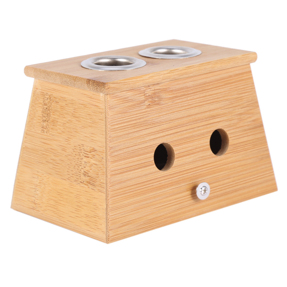 2 типтері Massager Moxa Roll Holder Moxibustion Bamboo Box - Денсаулық сақтау - фото 4