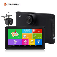 TOPSOURCE 7″ Android Car GPS Navigation 8GB with Rear view camera dvrs Vehicle gps Navigator Quad-core Bluetooth AVIN sat nav