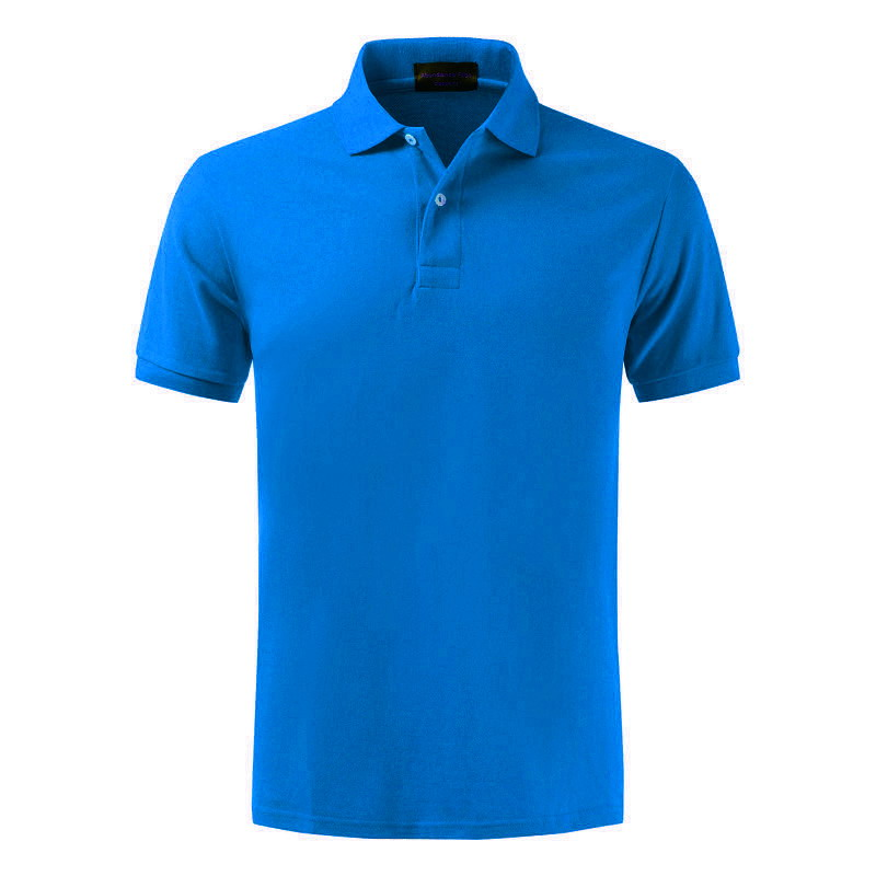 High quality 100% cotton   POLO   shirt, men's business lapel shirt men's   POLO   shirts, multi-color and large size In the blue