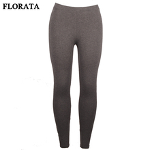 FLORATA USPS Dropship Women Lady Activewear Dark Grey Slim Leggings Summer Autumn Trouser Pants Elastic