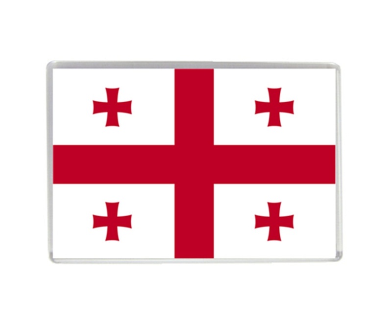 Georgia Flag Quality Acrylic Fridge Magnets Exquisite World Tourism Souvenirs Refrigerator Magnetic Stickers Collection