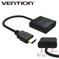 Vention HDMI To VGA Adapter Digital To Analog Audio Converter M F Video Cable For Xbox