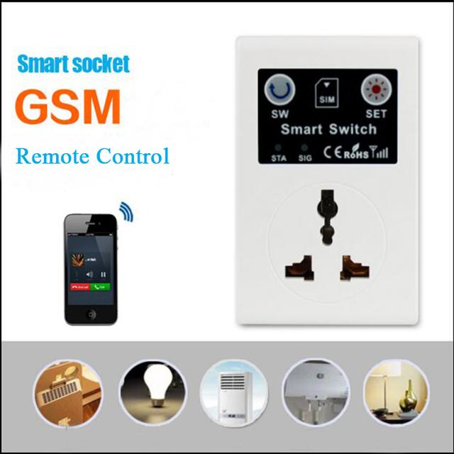 SC1-GSM EU/AU/UK 220 V RC Teléfono Inteligente de Control Remoto Inalámbrico Interruptor GSM Socket Plug Power para Casa inteligente de Electrodomésticos