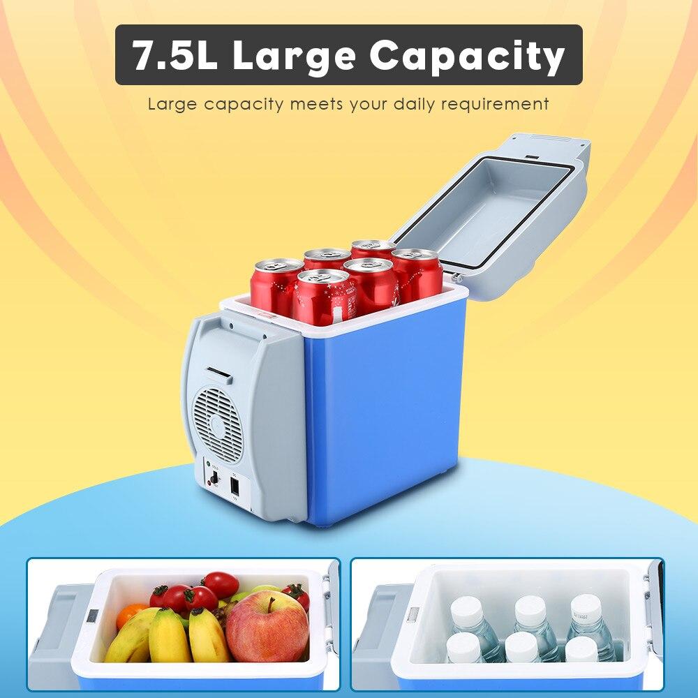 Portable 7.5L Cooling Warming Vehicle Fridge Freezer Mini Dual-mode Car Refrigerators 12V Icebox Travel Home Refrigerator 3 hole цена 2017