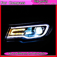 Car Styling Headlight for JEEP Compass 2017 2018 LED Headlight for Compass Head Lamp LED DRL Bi Xenon HID Automobile Accessories