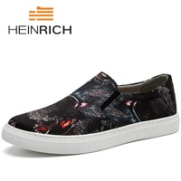 HEINRICH 2018 Men Shoes Famous Luxury Leather Formal Office Classic Loafers Pointed Toe Dress Flats Shoes Zapatilla Hombre