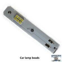 1piezas C6 coche bombillas de faros H1 H3 H7 H11 9005 9006 de 880 luces LED del coche H4 9004 9007 H13 Hi-Lo haz de estilo del 18pcs cob h1 h4 h7 h11 hb3 hb4 led coche faros bombillas 18w 6000 k s7 auto faro luz de niebla 9 v led h7 fa