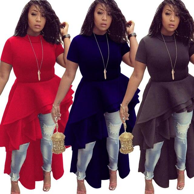2018 Christmas Party Dresses for Women Autumn Winter New Fashion Layered  Ruffle Asymmetrical Dress Elegant Long 13e17626f88f