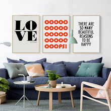 Love Home English Phrase Proverbs Inspiration Canvas Painting Art Print Poster Picture Wall Paintings Decoration Decor