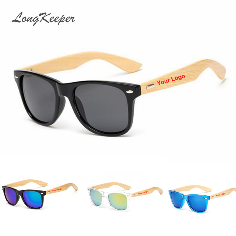 Wholesale Custom Logo Bamboo Arms Sunglasses Men Wooden Sunglasses Women Original Wood Sun Glasses Customerized 50