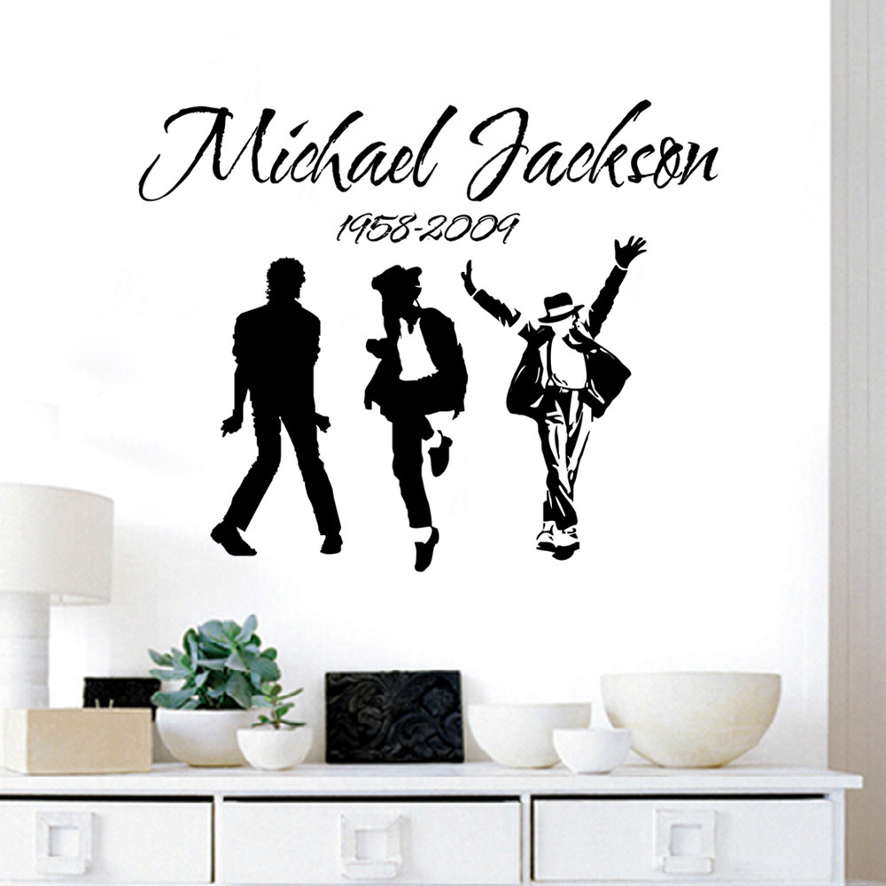 Hot Sale Home decor Wall Stickers Michael Jackson Wall Decals Vinyl Stickers  Home Decor living room boys Room decor poste SW-10